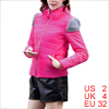 Pretty Fuchsia Stand Collar Full Zip-Up Padded Jacket for Lady XS