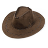 Adjustable Strap Coffee Color High-crowned Cowboy Hat for Men
