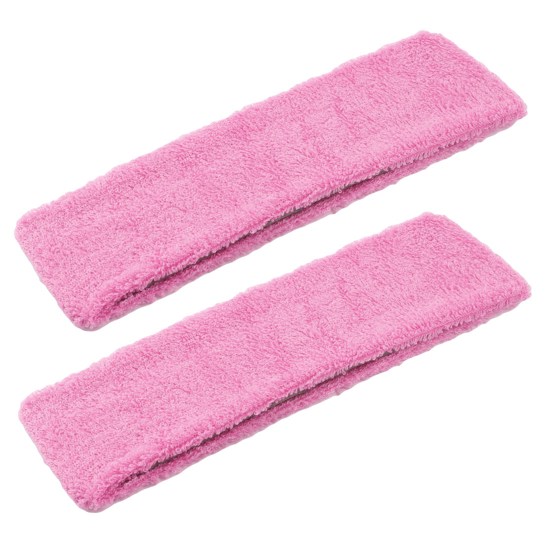 2 Pcs Pink Stretchy Yoga Volleyball Athletic Protective Headwear Headband