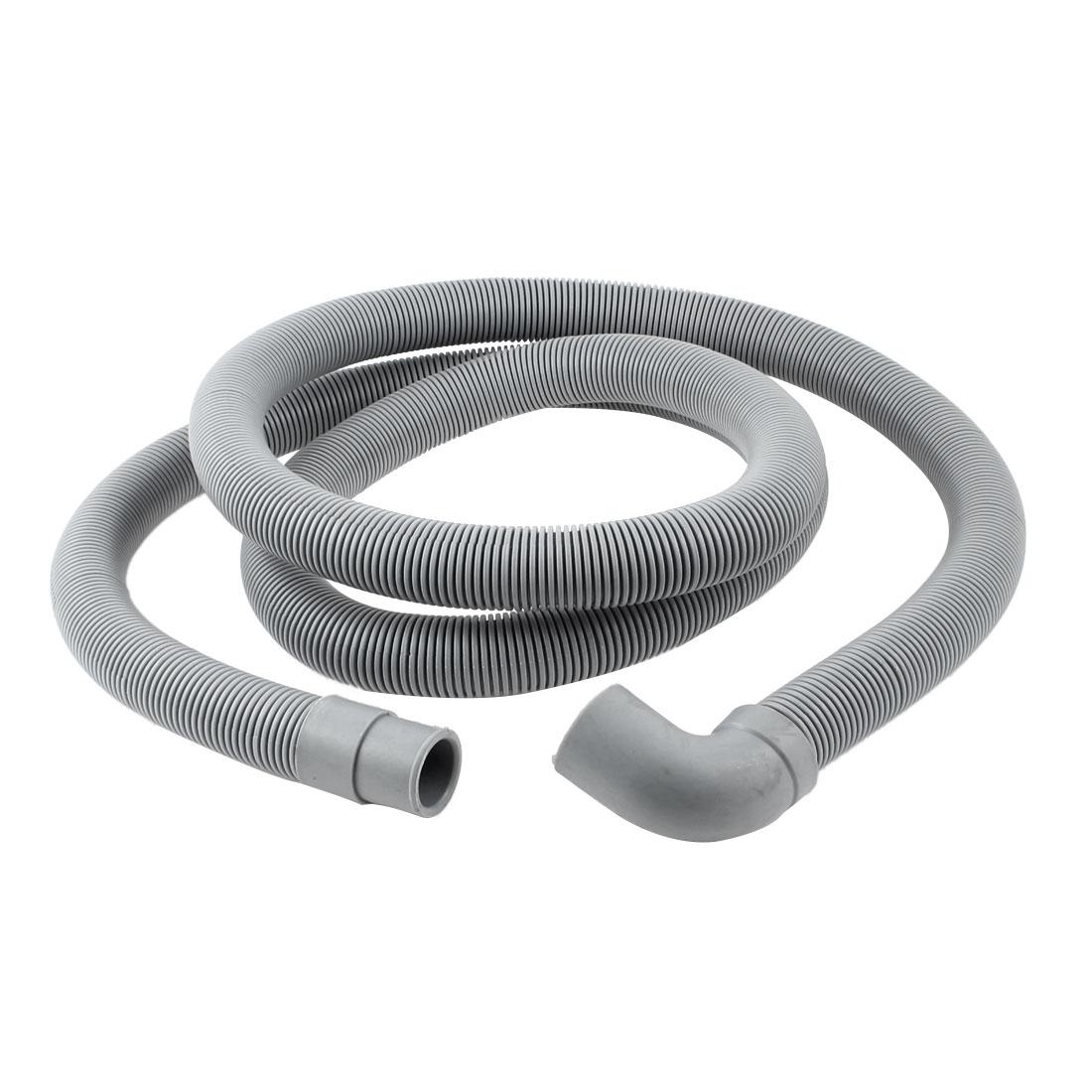 "78.7"" Long Plastic Gray Washing Machine Drain Pipe Washer Hose"