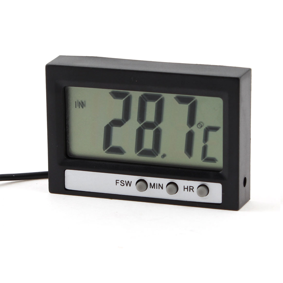 Black Three Button Plastic Housing LCD Display Digital Thermometer