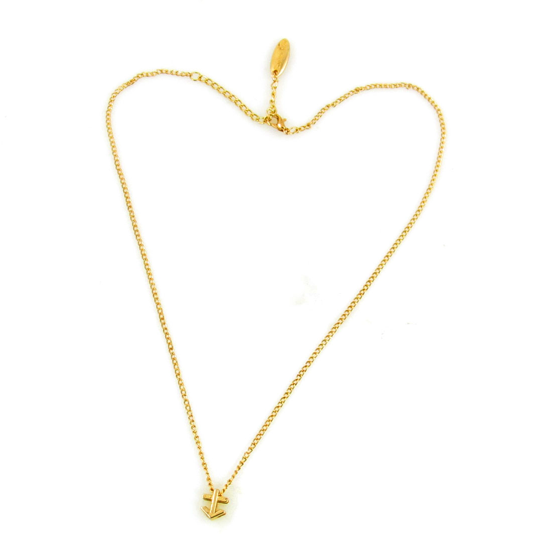 Ladies Lobster Clasp Collarbone Sagittarius Zodiac Necklace Gold Tone
