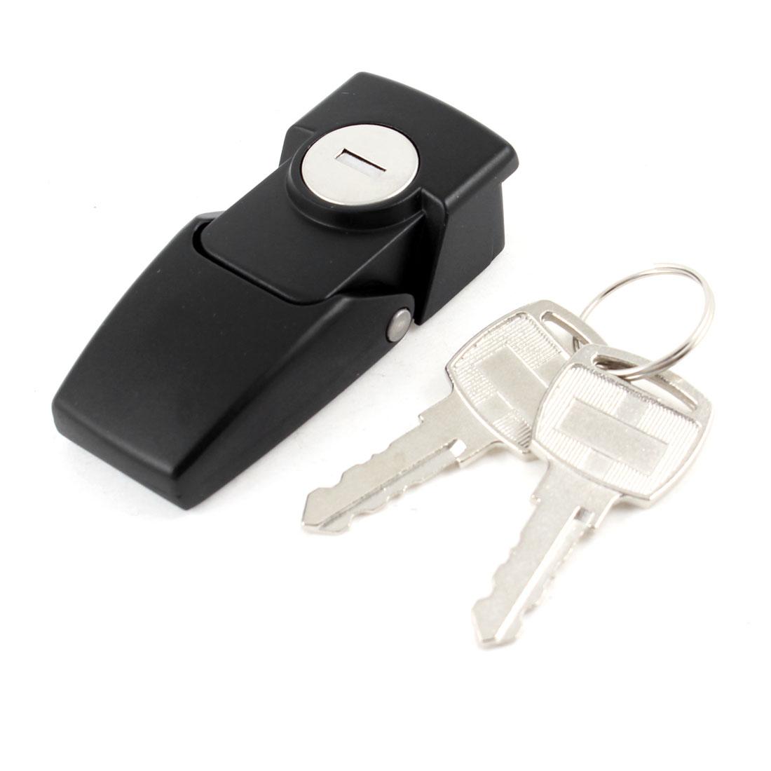 Cabinets Spring Load Metallic Hasp Latch Lock w Keys
