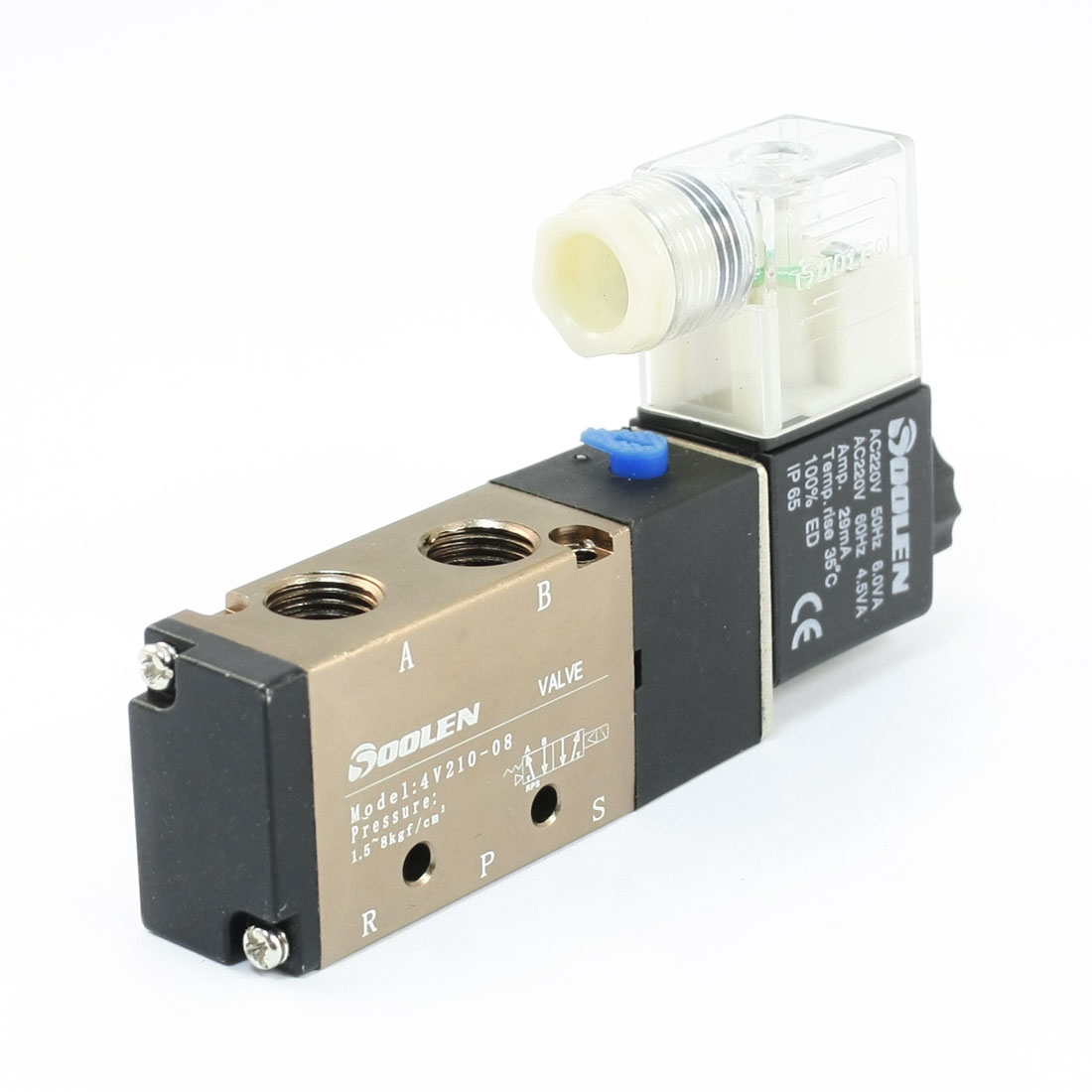 5 Ways 2 Position 4V220-08 Single Head Solenoid Valve AC 220V