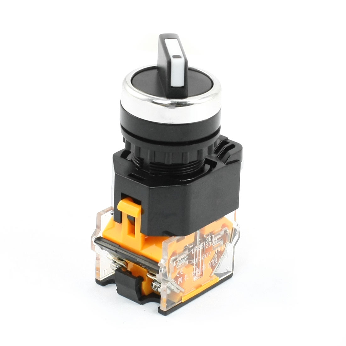 380V 10A 2 Position DPST Latching Rotary Knob Control Switch