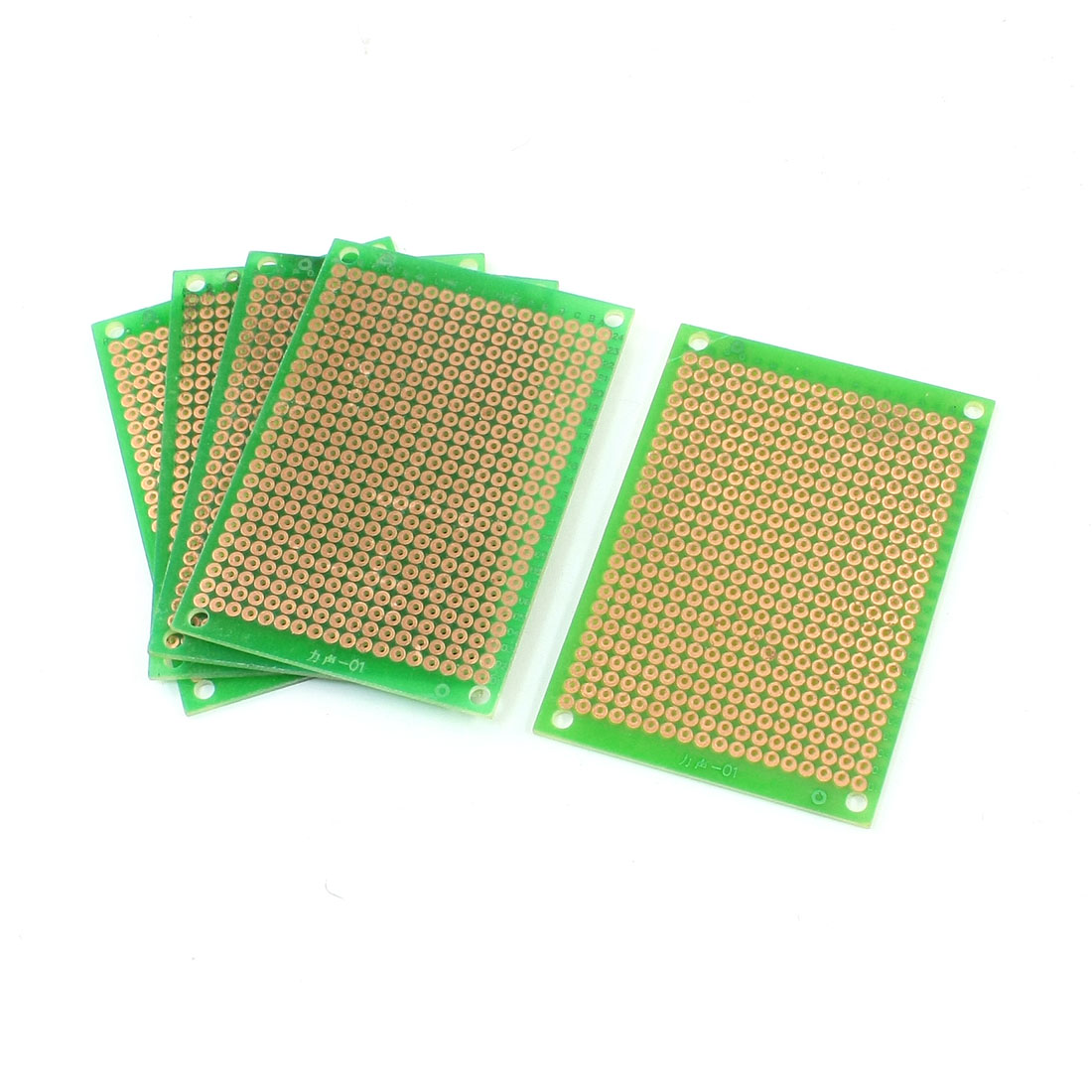 5cm x 7cm Panel Single Side PCB Circuit Board Green 5 Pcs