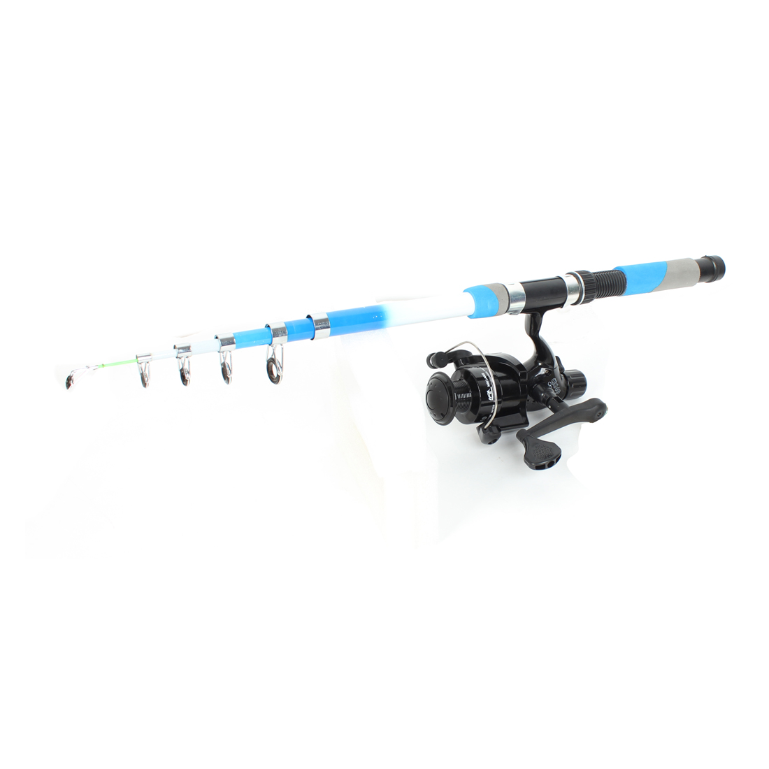 2.1M 5 Sections Carbon Fiber Telescoping Fishing Rod Pole w Spinning Reel