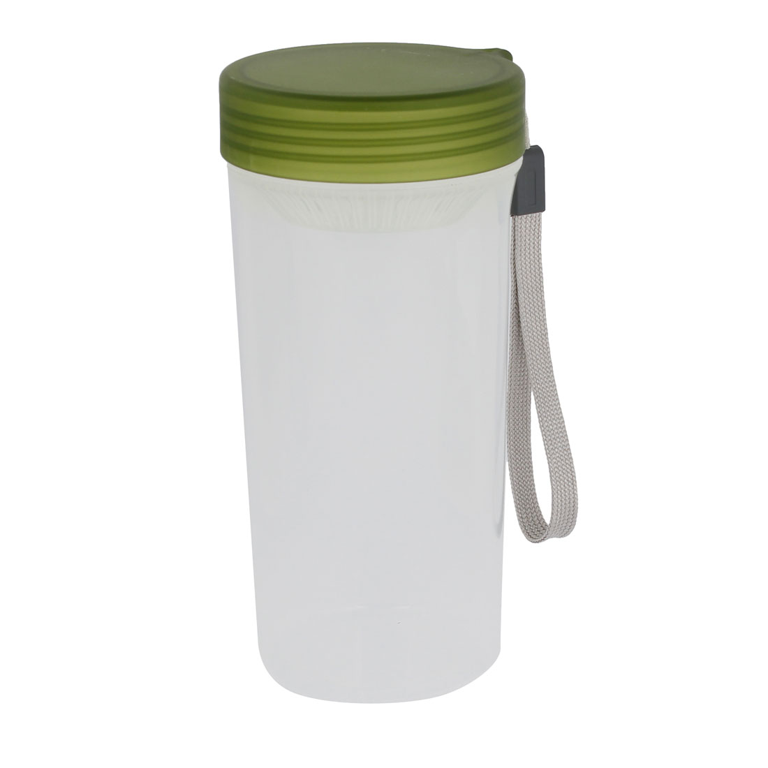 Green Lid Clear Plastic Water Tea Bottle 470ml for Cycling Traveling