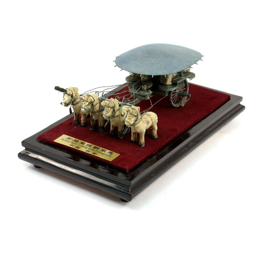 Ancient Emperor Qin Shi Huang Mausoleum Horse Chariot Model Figurine