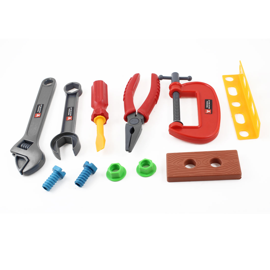 Children Plastic Engineer Device Tool Bench Vice Pliers Play Toy Set Kit 11 in 1