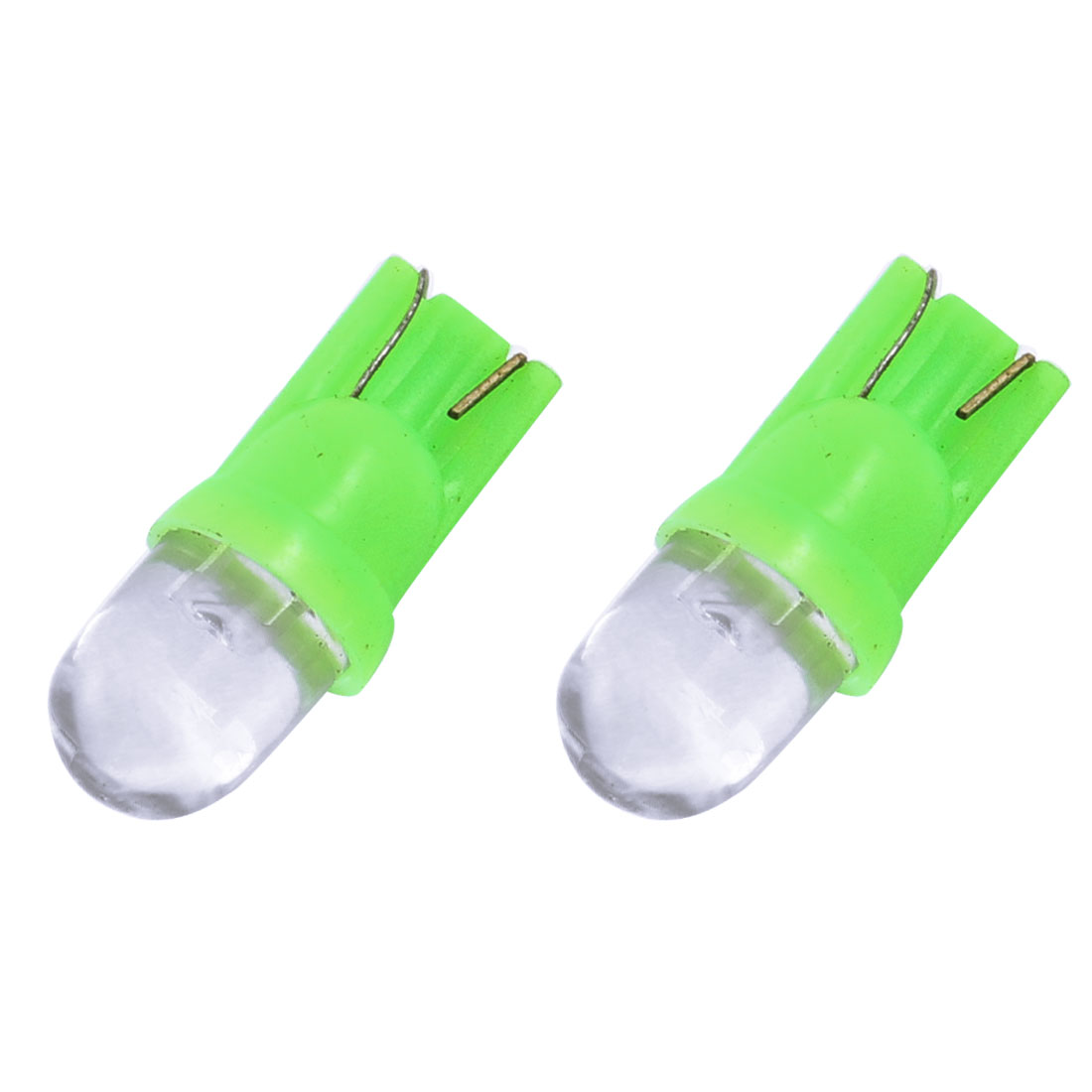 2 Pcs DC 12V Auto Motorbike T10 Green LED Lens Gauge Panel Light Bulbs Lamp