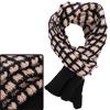 Men Winter Wearing Stretchy Stylish Pink Black Knit Scarf