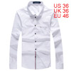 Men Chest Pocket Button Closure White Casual Shirt S