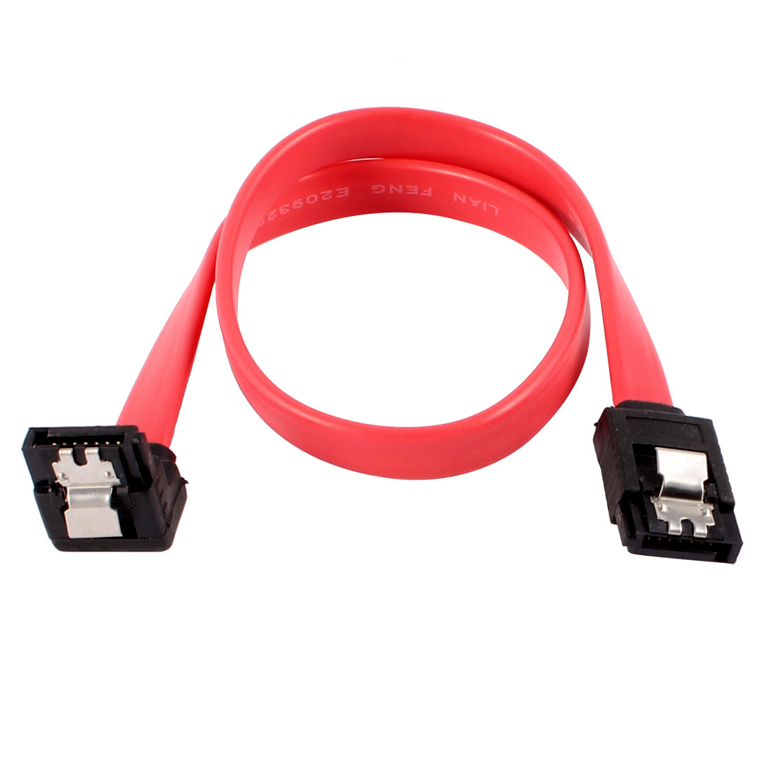 "12"" Sleeved High Speed Serial ATA SATA 7 Pin HDD Data Cable Adapter Red"