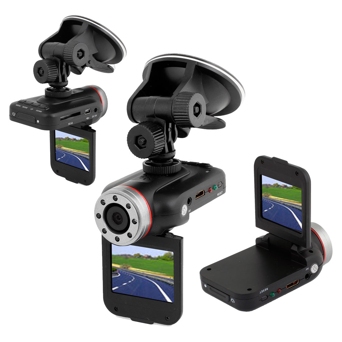 Black Plastic LCD HD 1080P Car DVR Camera Cam Recorder Accident Vehicle Dashboard