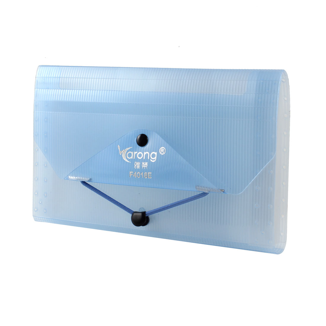 Sky Blue Plastic 12 Layers Sheets Paper Document Files Holder Bag