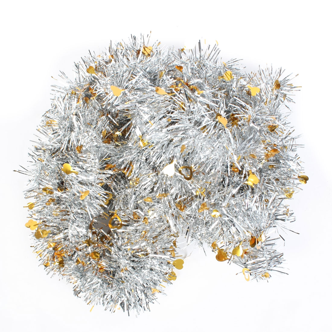"72.8"" Long Shiny Two Tone Christmas Tinsel Garland Ornament"