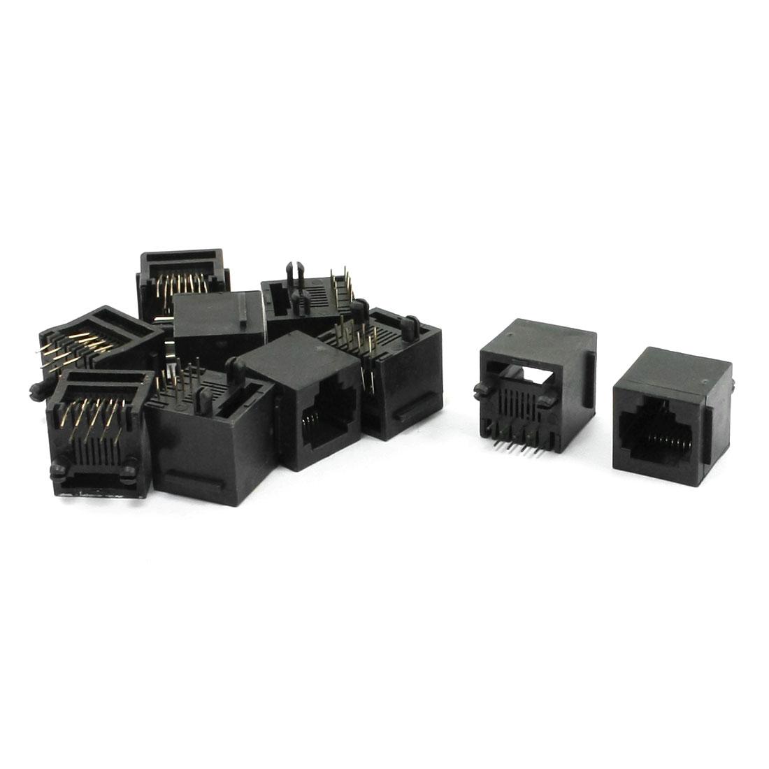 Unshielded 8P8C RJ45 Modules Network PCB Jack Connector 10 Pcs