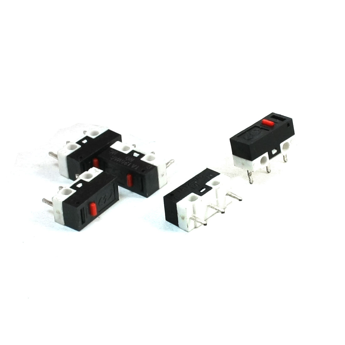 Push Button Type SPDT 1NO 1NC Momentary Micro Switch for Mouse 5 Pcs