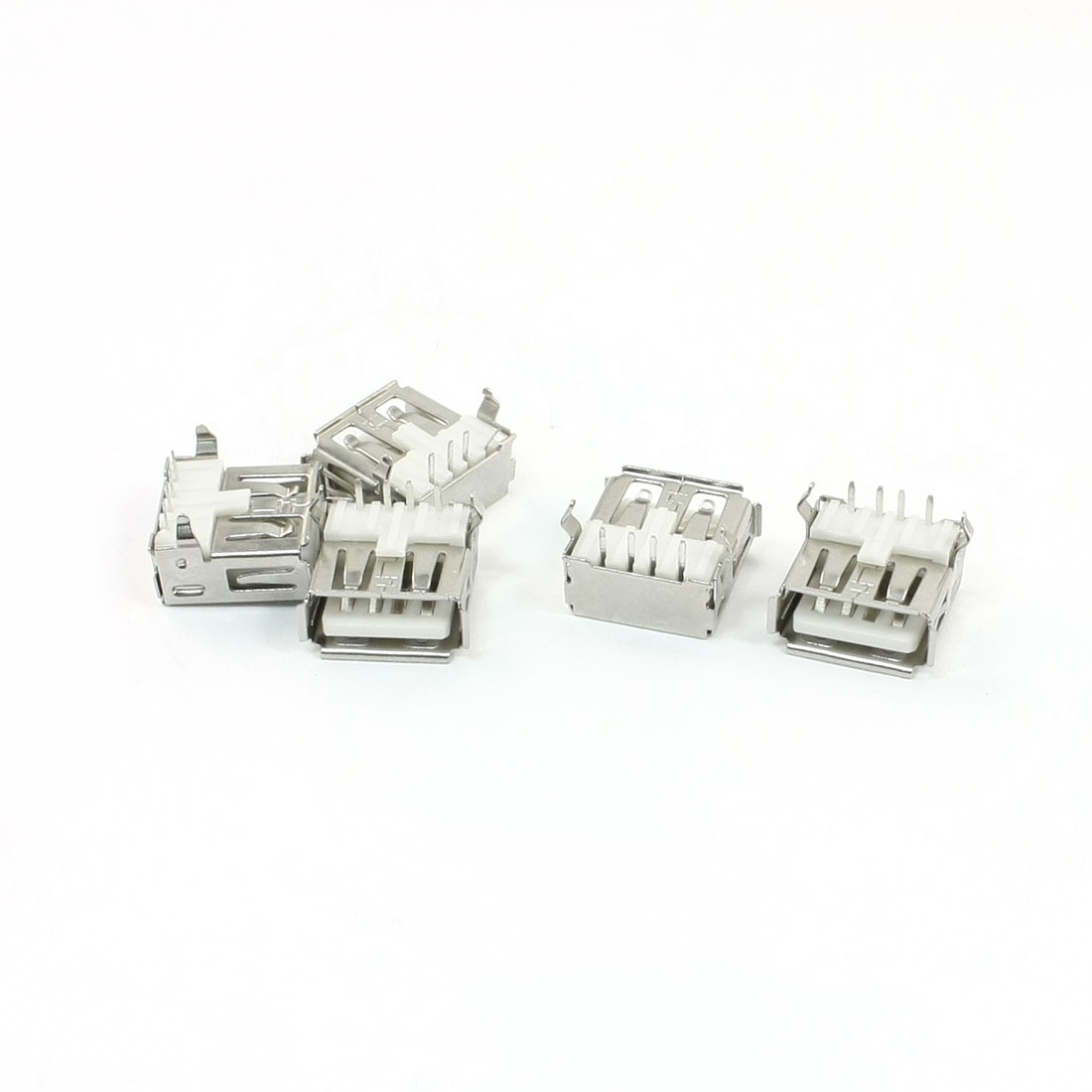 5 Pcs Desktop PC USB Type A Right Angle Female Connector PCB Socket