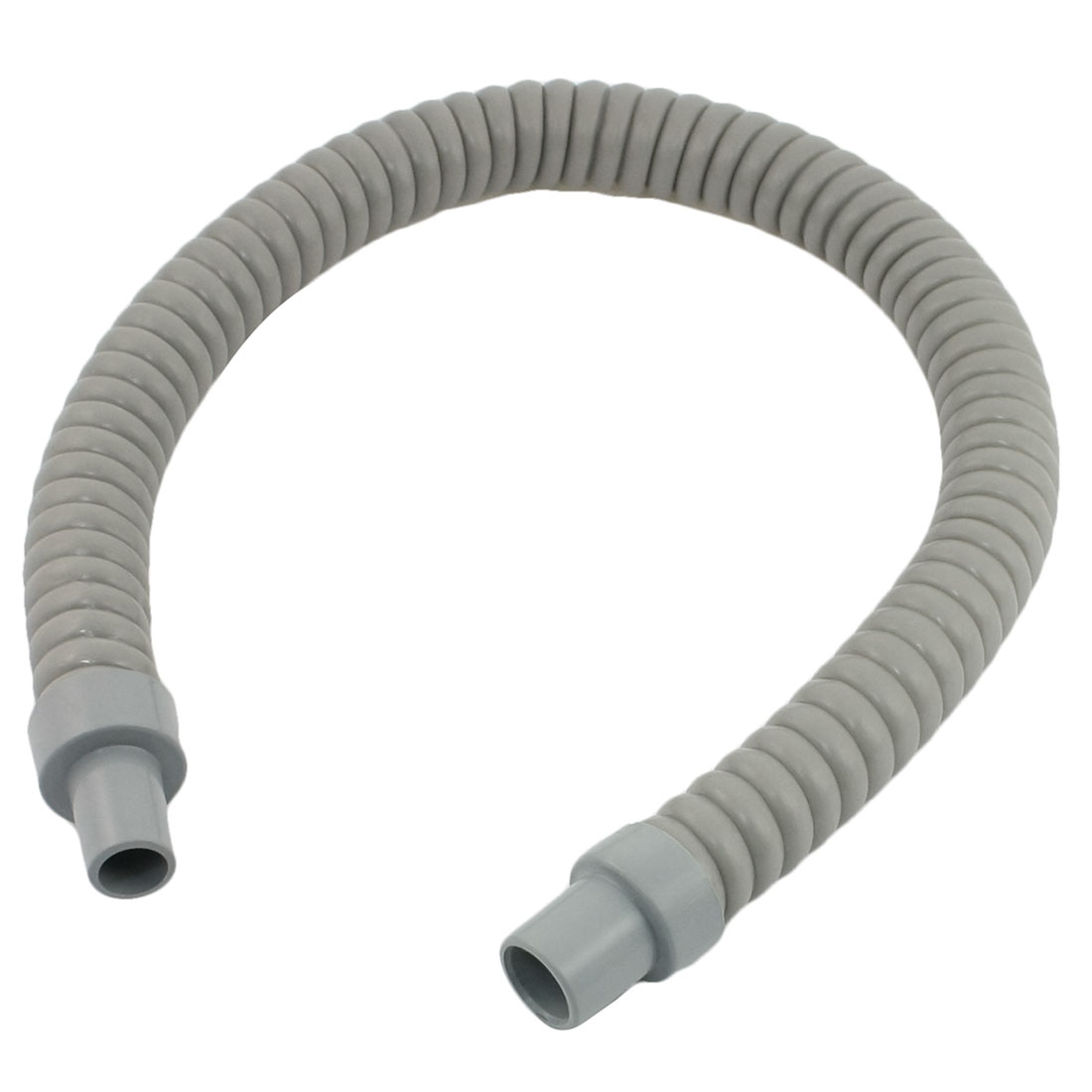 Gray Plastic Water Drain Pipe Hose 60cm Long for Air Conditioner