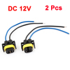 2 Pcs H11 Fog Light Socket Trun Connectors for Vehicle Car