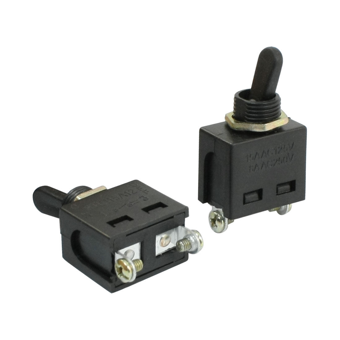 Panel Mounted Wobble Level SPST ON-OFF 2 Position Toggle Switch 2 Pcs