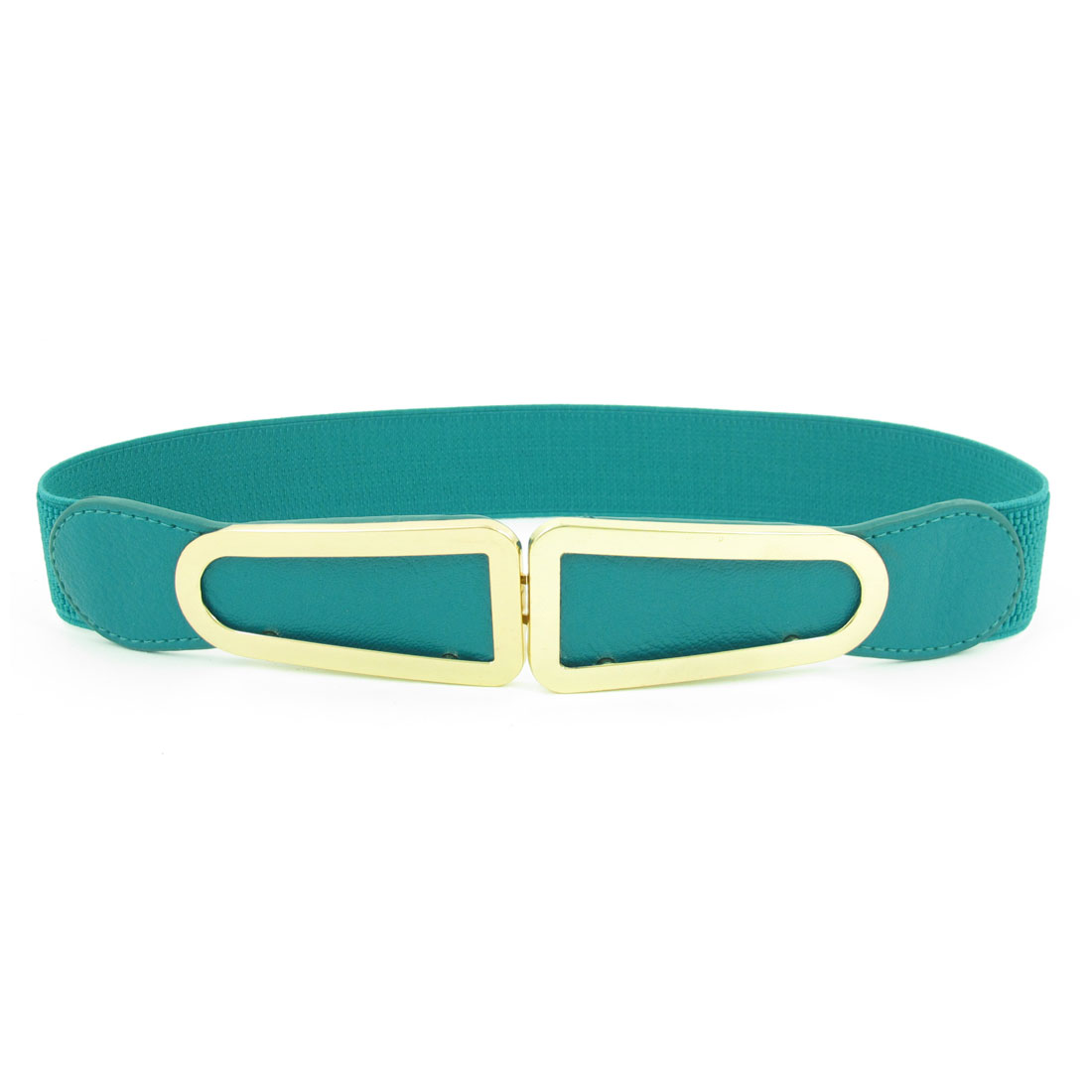Teal Elastic Band Lychee Pattern Waist Belt for Lady