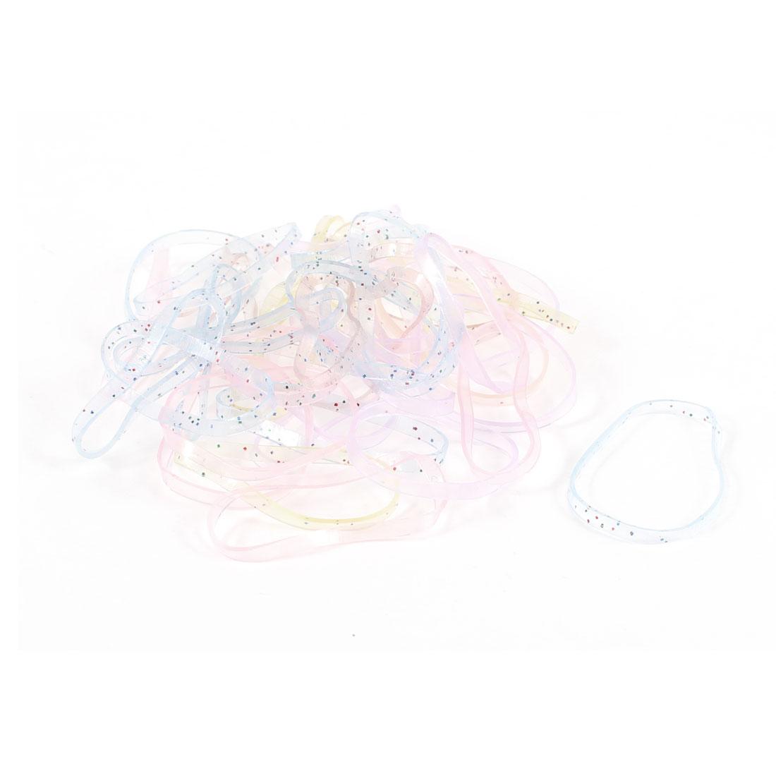 Girl 41 Pcs Assorted Color Elastic Ponytail Holder Hair Rubber Bands