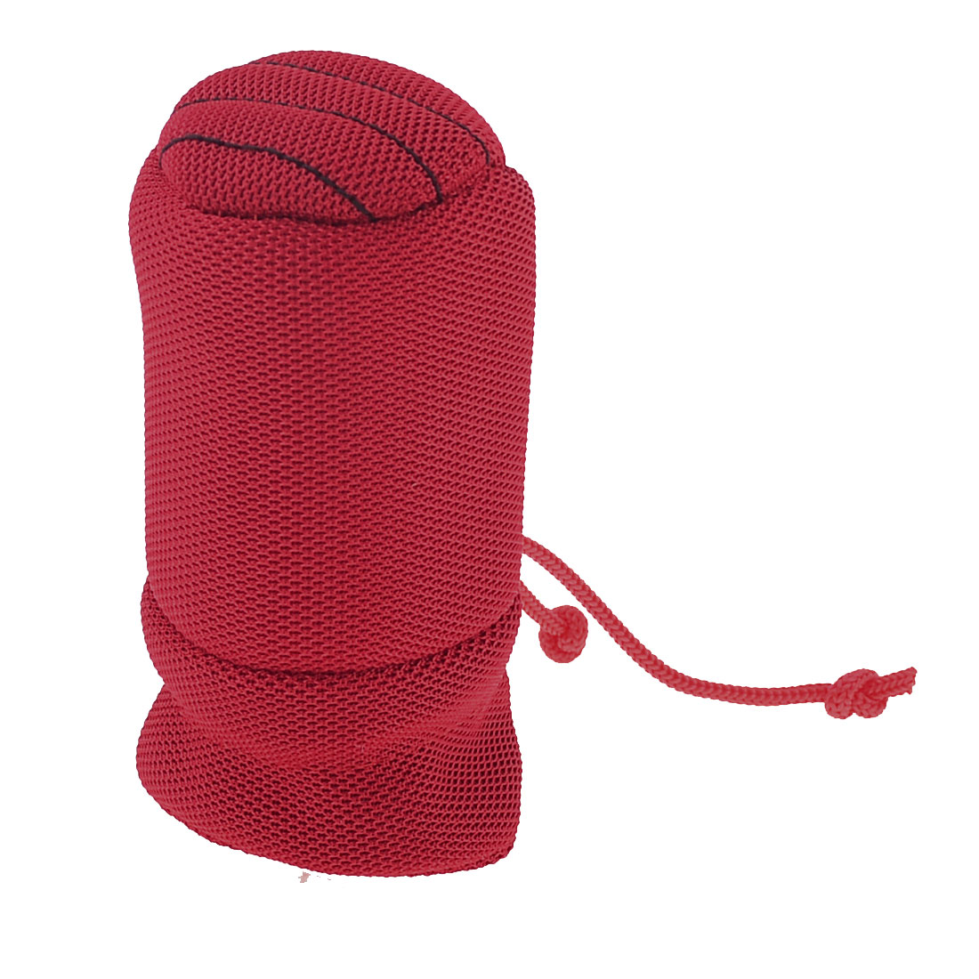 Red Nonslip Cotton Blends Gear Set Hand Shift Knob Boot Cover for Auto