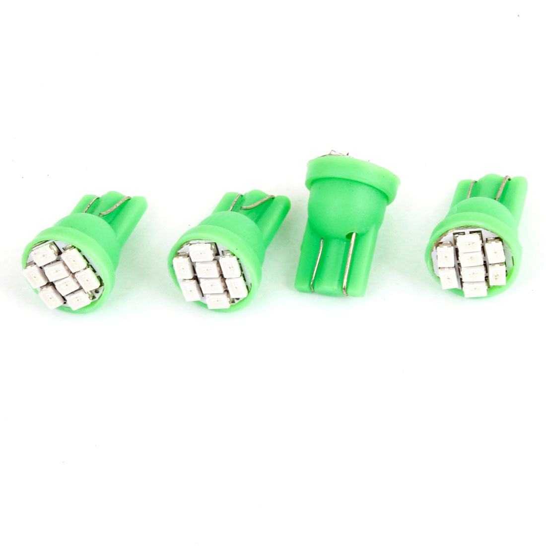 Mini Universal T10 Green Light 8 LED 1206 SMD Dashboard Wedge Bulb 4 Pcs for Car