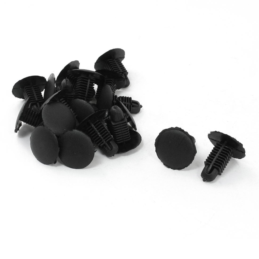 20 Pcs Black Plastic 8 x 12mm Thread Expansion Screws Clips for Car