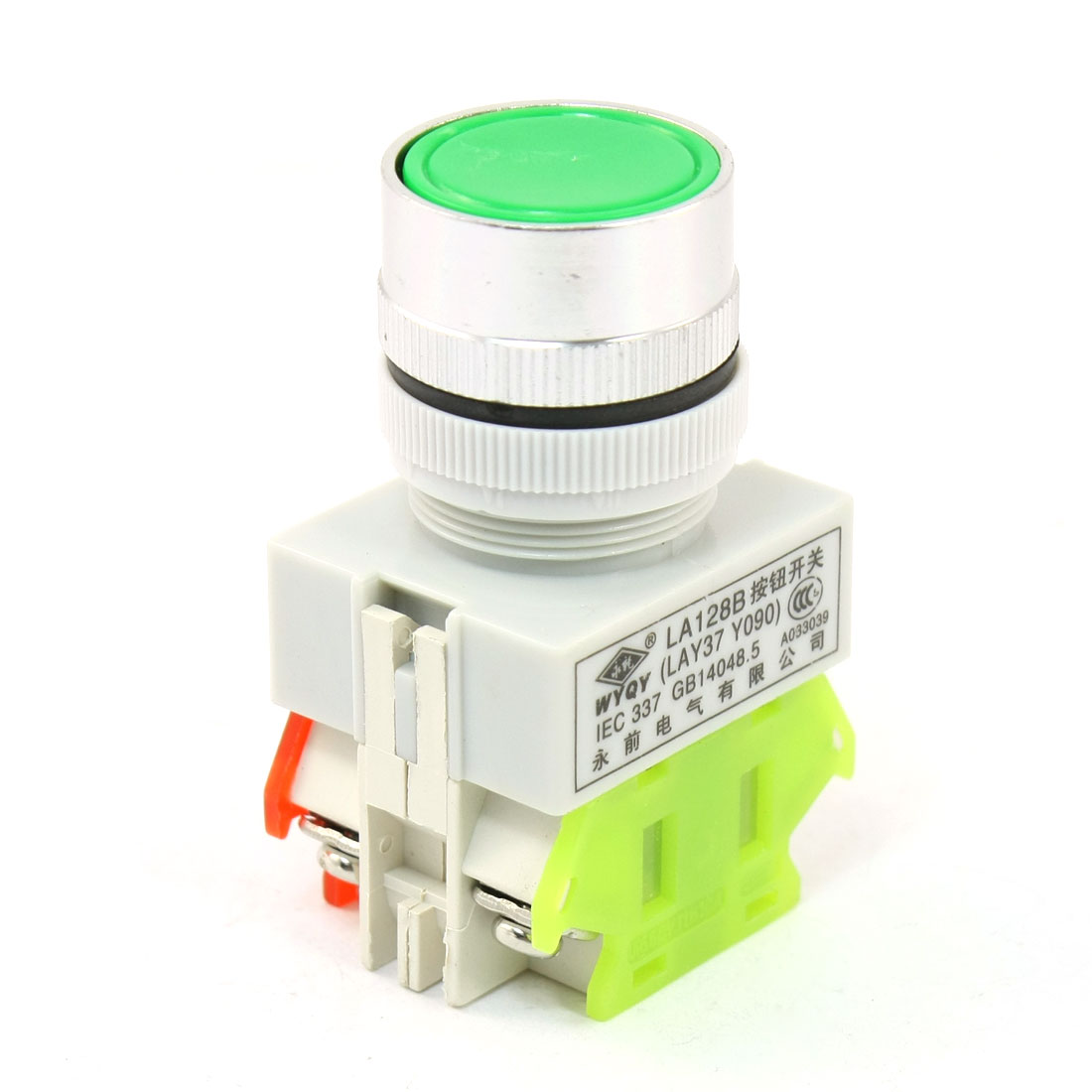 Green Head 4 Terminals DPST Momentary Push Button Switch Ith 10A Ui660V