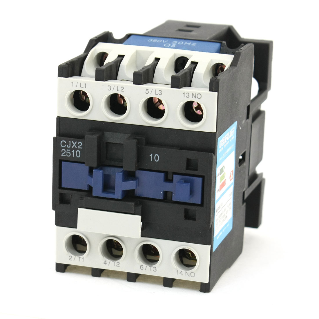 CJX2-25 Motor Control 3 Poles 1 NO Coil Volt 380V AC Contactor