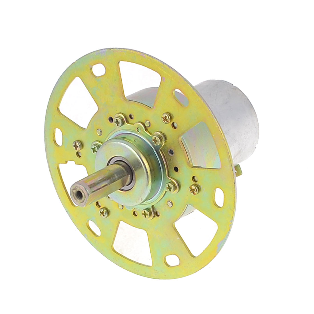 DC 12V Rated Voltage 0.04A 6.5RPM Output Speed Bronze Tone Motor
