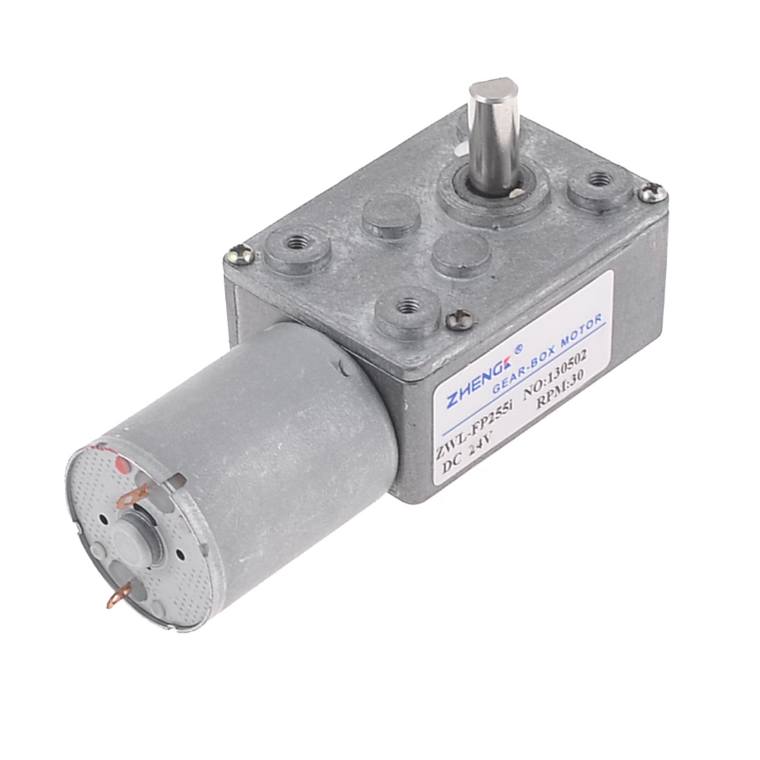 30RPM Output Speed 2 Terminal Connecting 6mm Drive Shaft Geared Motor DC 24V