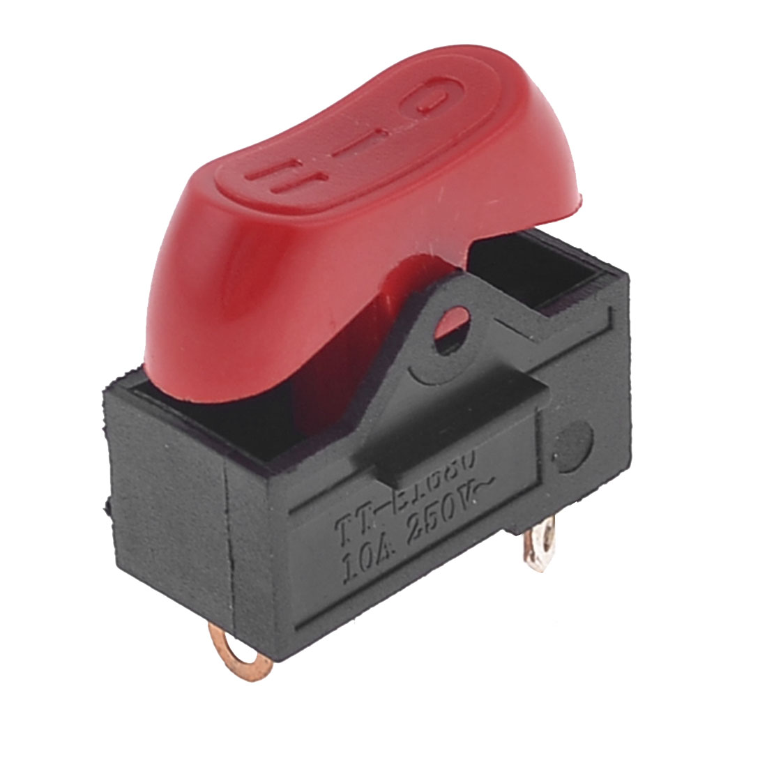 10A 250VAC 3 Position On/Off/On Hair Dryer Rocker Switch Black Red