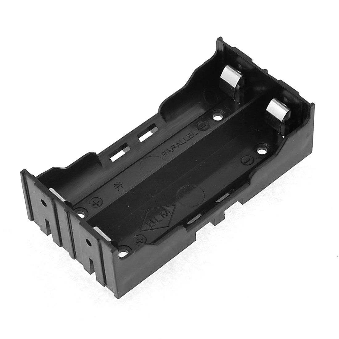 Black Battery Holder 4 Pins for 2x18650 Rechargeable Li-ion Batteries
