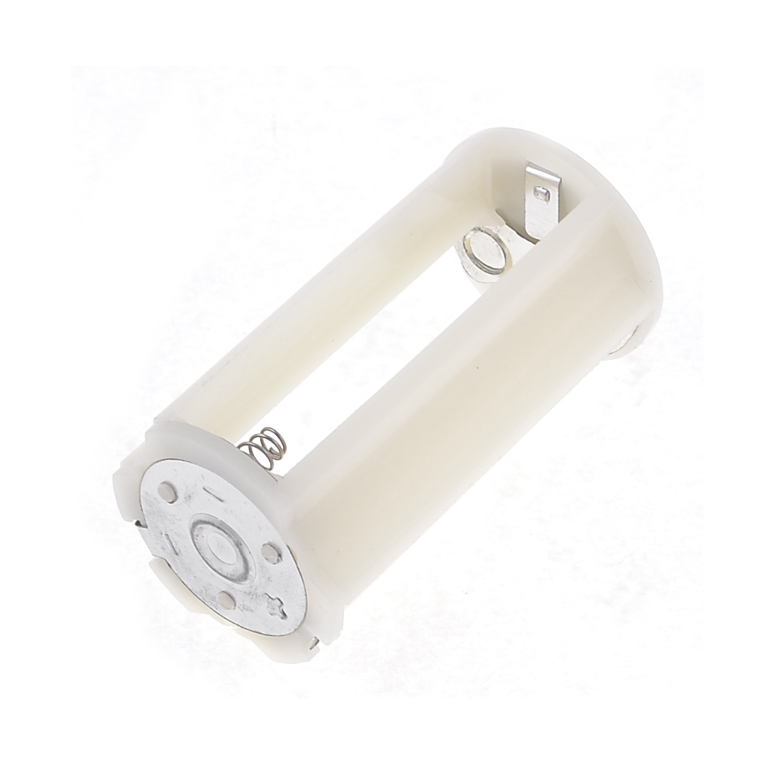 grey white Cylinder Battery Holder Adapter for 3x1.5V AA Batteries