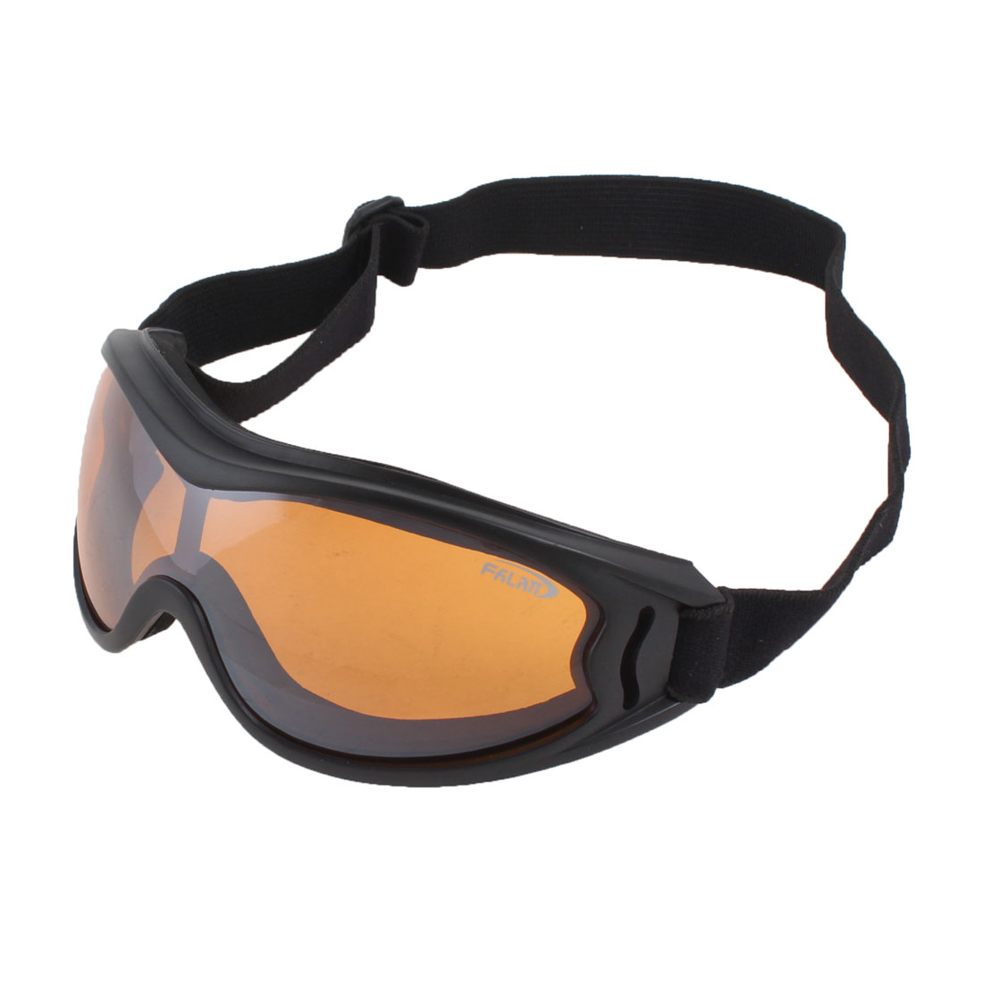 Adults Full Rim Clear Orange Lens Motorcycle Safety Ski Snowboard Sports Goggles