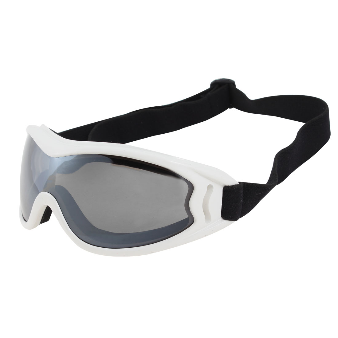 Adults Full Rim Clear Black Lens Motorcycle Ski Snowboard Sports Goggles