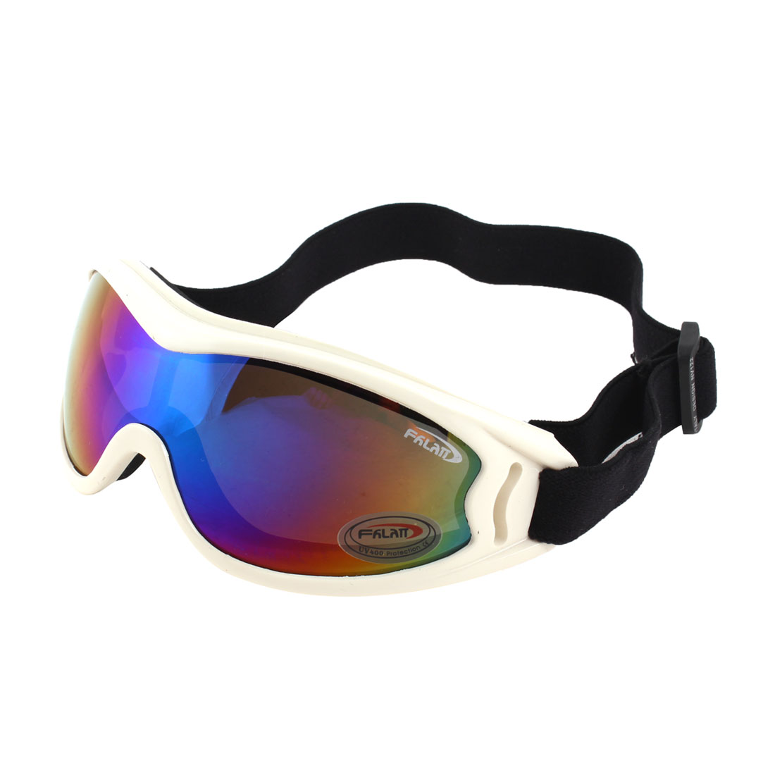 Colorful Lens Ski Snowboard Racing Motorcycle Sports Goggles Glasses White