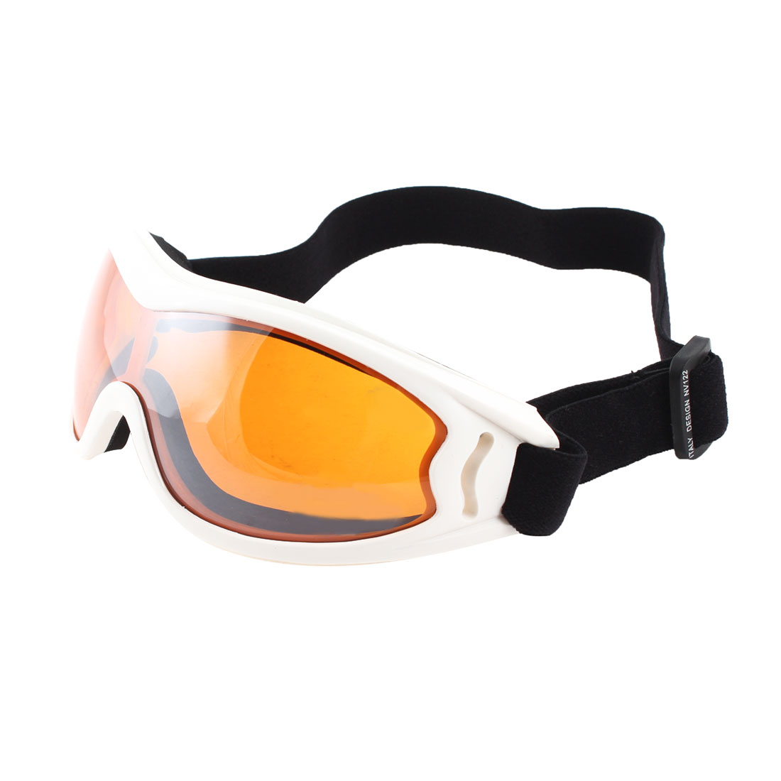 Adults Full Rim Clear Orange Lens Motorcycle Ski Sports Goggles Sunglasses