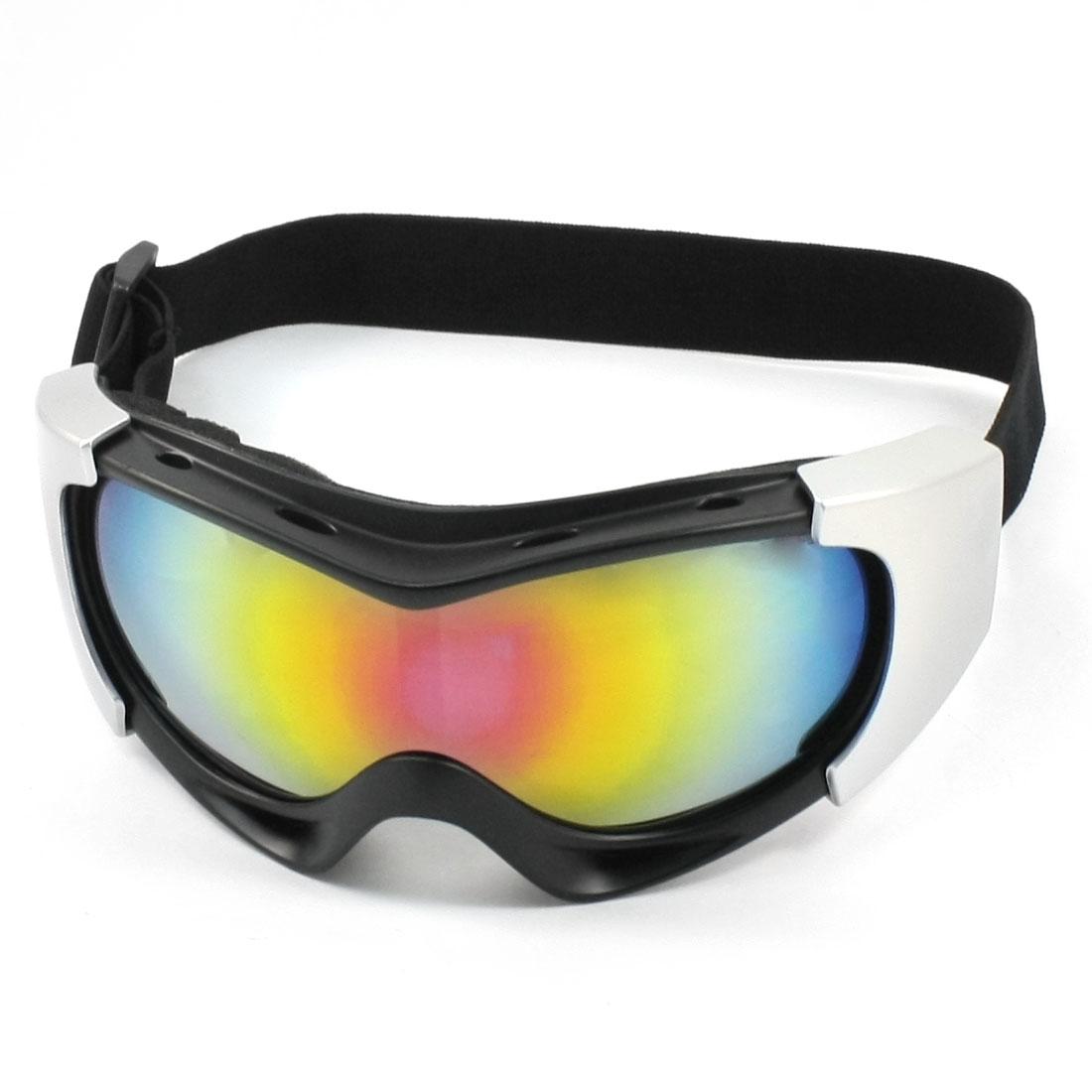 Unisex Multicolor Lens Full Frame Plastic Snow Ski Goggles