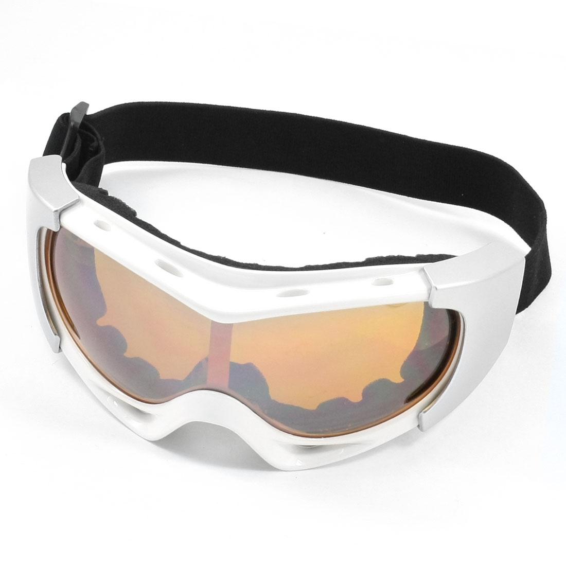 Unisex Yellow Lens Ski Snowboard Sports Goggles White