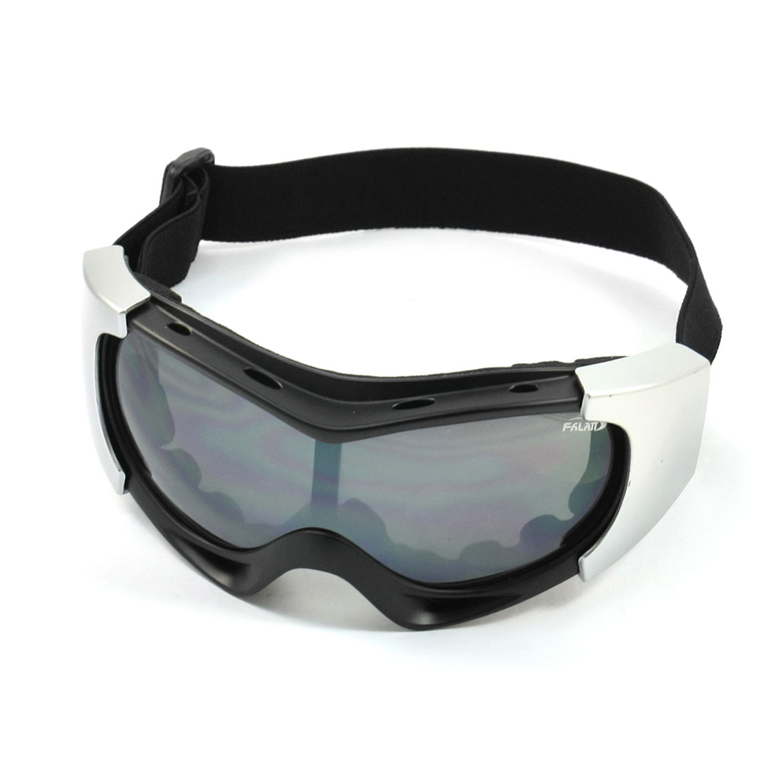 Black Silver Tone Ski Snowboard Racing Sports Goggles for Unisex