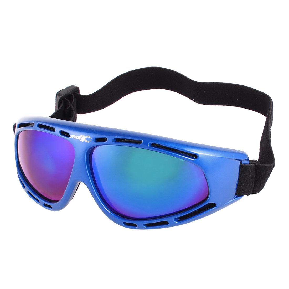 Men Dark Blue Full Frame Mountain Ski Skiing Sports Snowboard Goggles