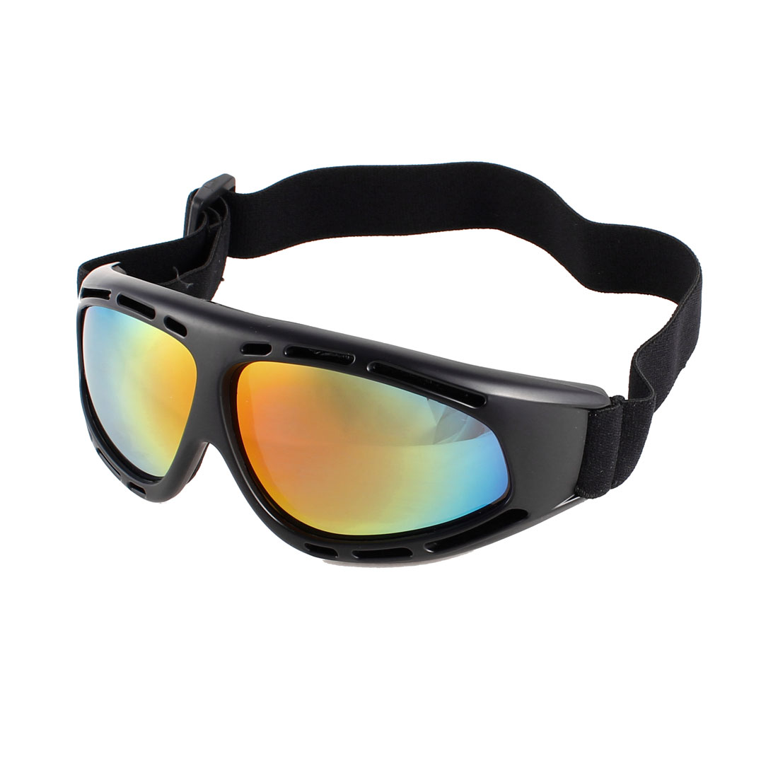 Full Rim Colors Lens Elastic Strap Ski Snowboard Sports Goggles Sunglasses
