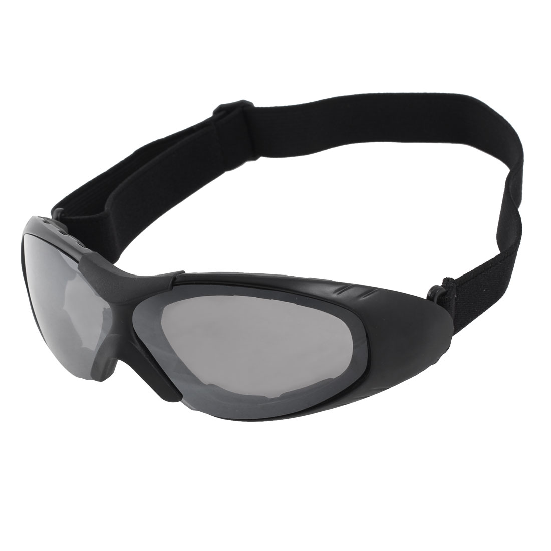 Climbing Racing Skiing Safety Glasses Clear Black Lens Ski Sports Goggles UV400