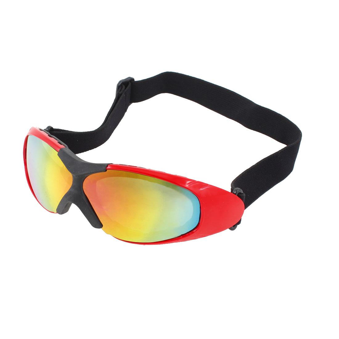 Adult Colorful Lens Motorcycle Safety Skiing Snow Sports Goggles Glasses Red